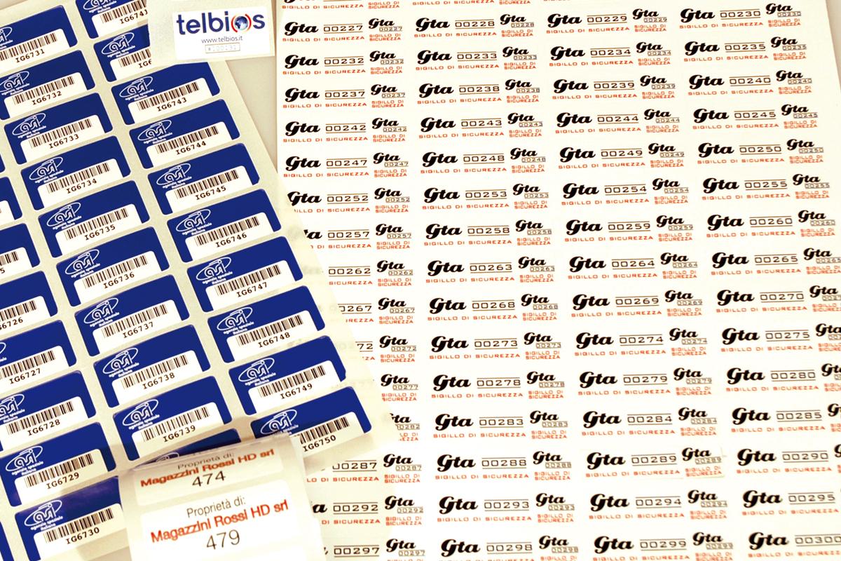 Etinastro Etichette stampa a solvente