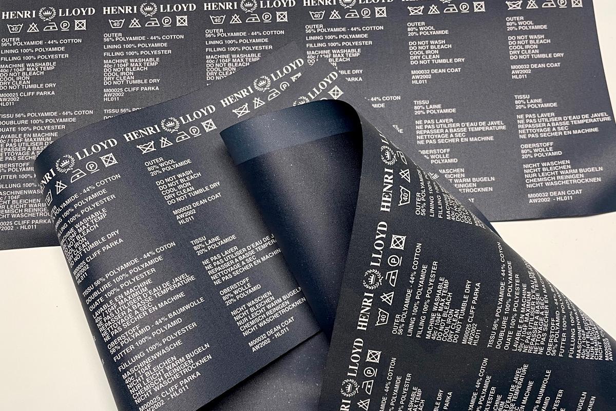 Etinastro Etichette stampa litografica su tessuto