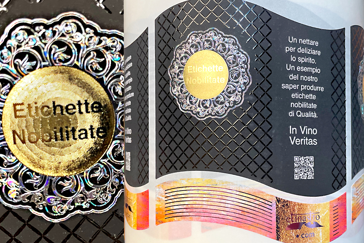 Etinastro Etichette stampa rilievo con lamina a caldo 1