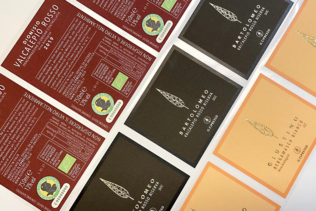Etinastro Etichette stampa serigrafia 1